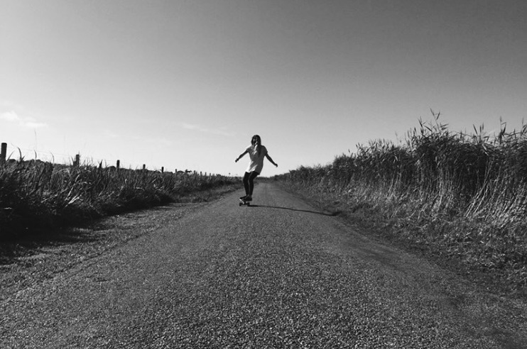 Skateboarding on the Island of Tiree Image