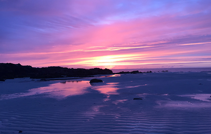 Island of Tiree Sunset Image